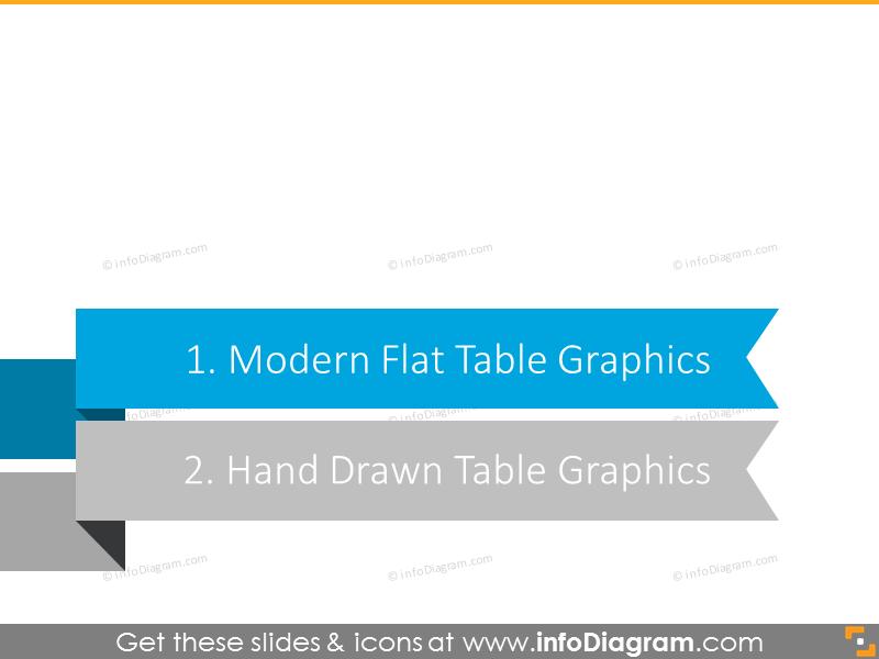 Modern Flat Simple Table Templates