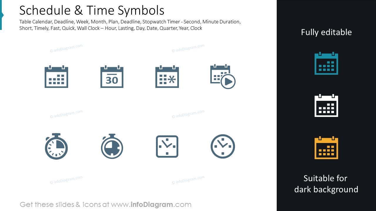 Schedule & Time Symbols