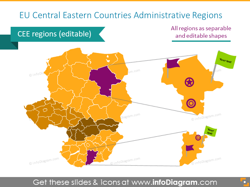 EU central eastern countries administrative regions