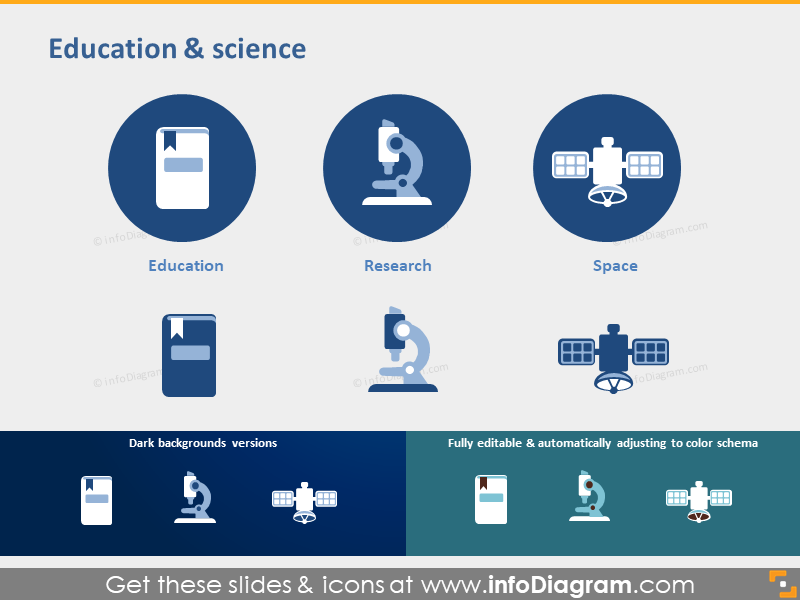 Education Science Research Space pictogram powerpoint symbol