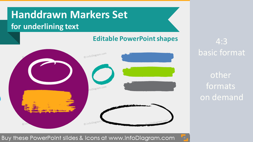 Handwritten Markers for Highlighting (PPT icons)