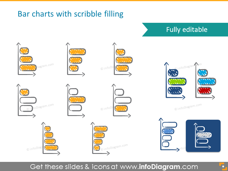 Bar charts with scribble filling