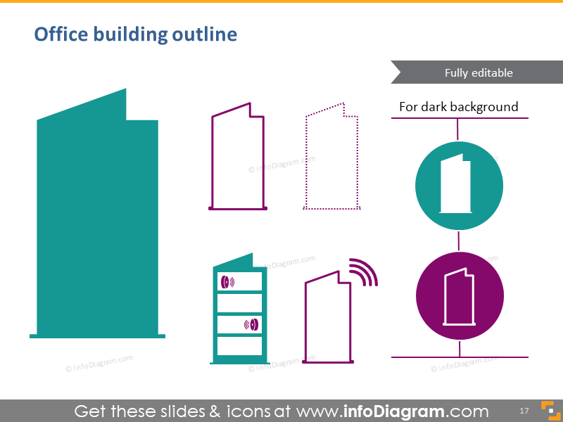 Office building outline