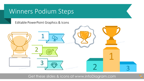 Winner Podium Steps Presentation Graphic (PPT Template)