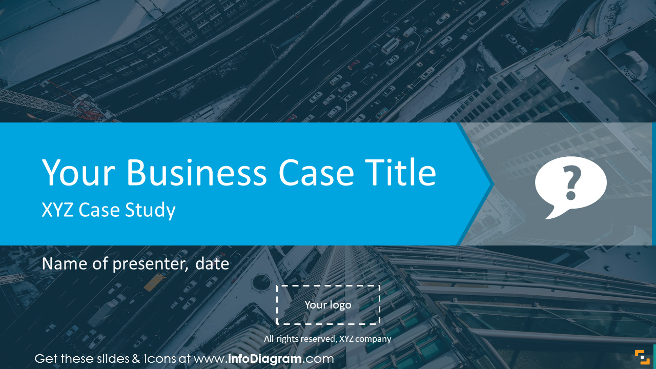 Business Case title slide on a picture background