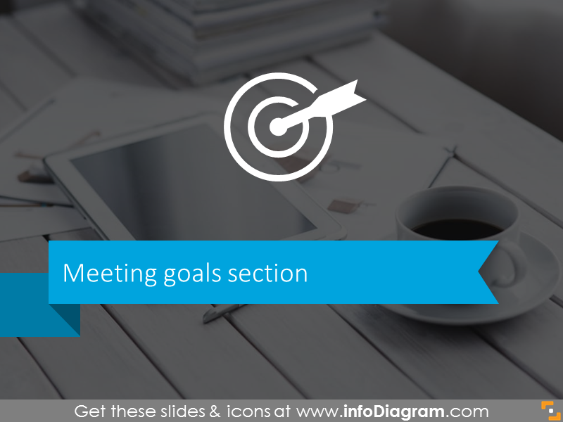 Meeting goals slide template for business meetings
