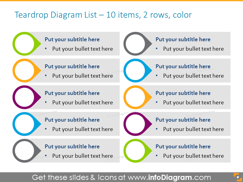 List for placing Activities with Drops opposite each other Diagram Template