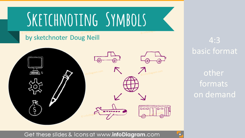 Sketchnoting Doodle Symbols (PPT icons and shapes)