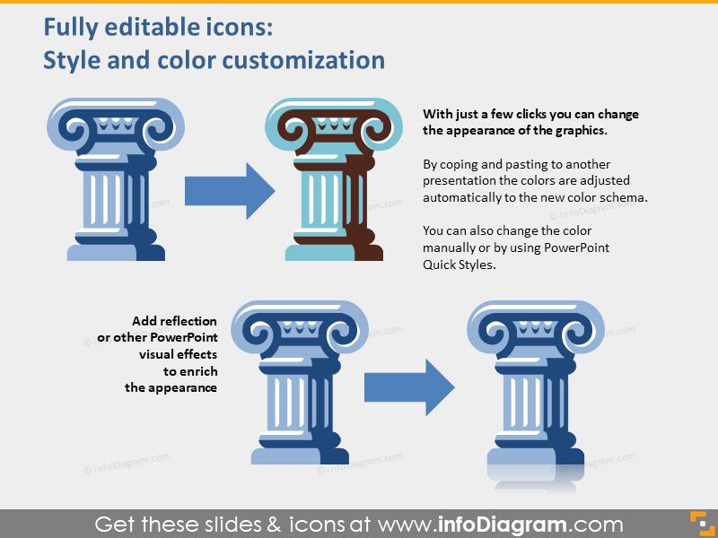 public administration pictograms powerpoint editable clipart