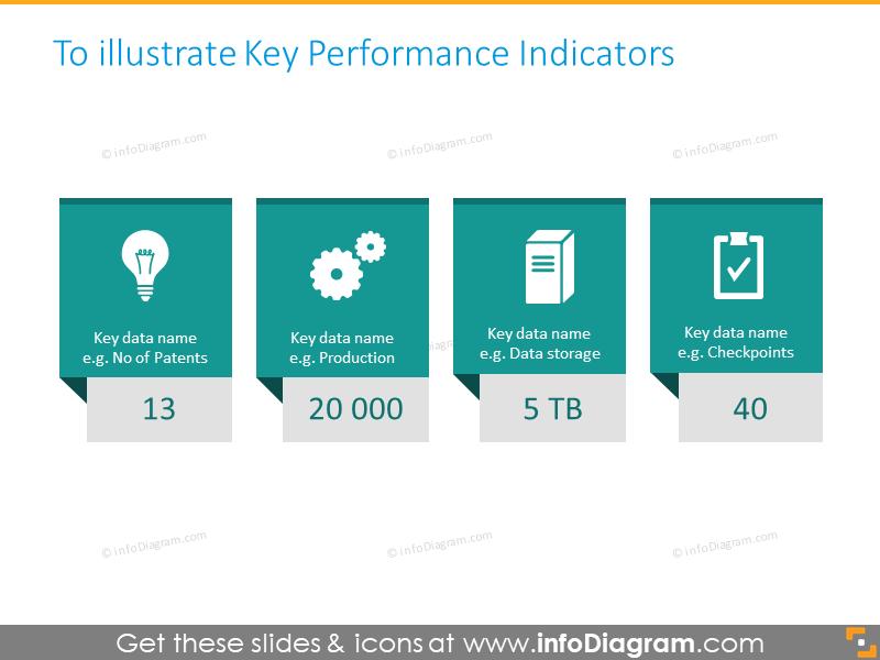 diagonal number infographics slide