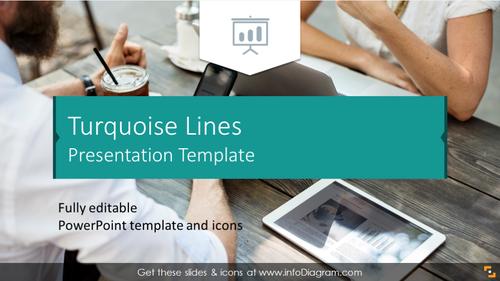 Turquoise Lines Presentation Template (PPTX slide deck)