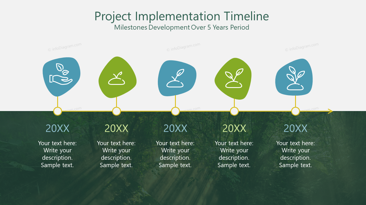 Project Implementation Timeline Milestones Development Over 5 Years Period