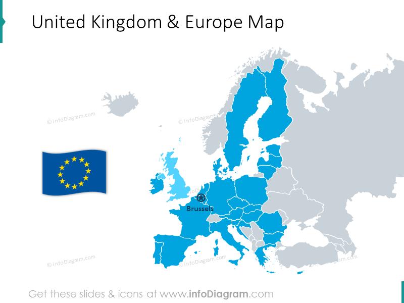United Kingdom and Europe Map