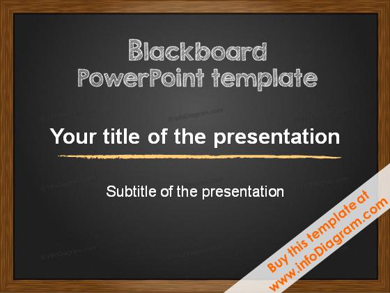 Blackboard Charcoal PowerPoint Template