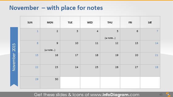 November school notes plan 2015 slide