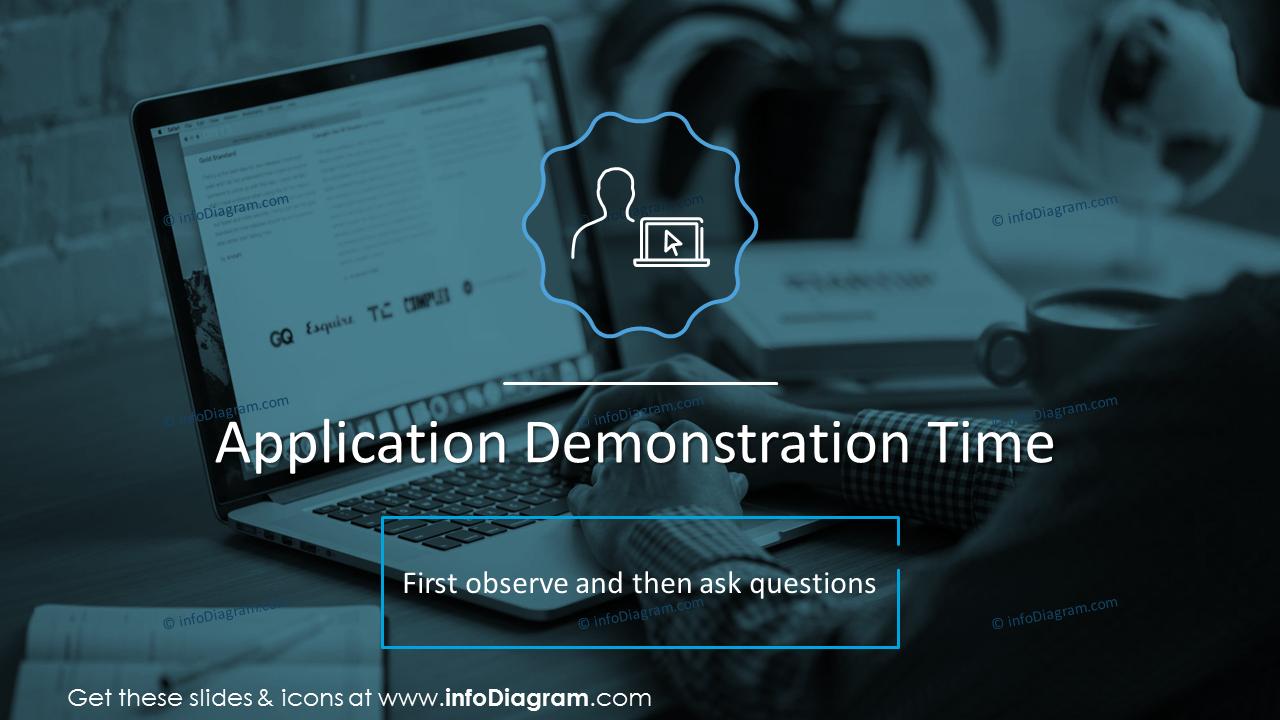 Application demonstration time slide