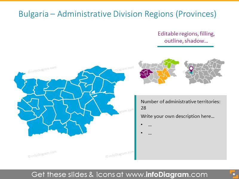 Bulgaria Administrative Division Regions