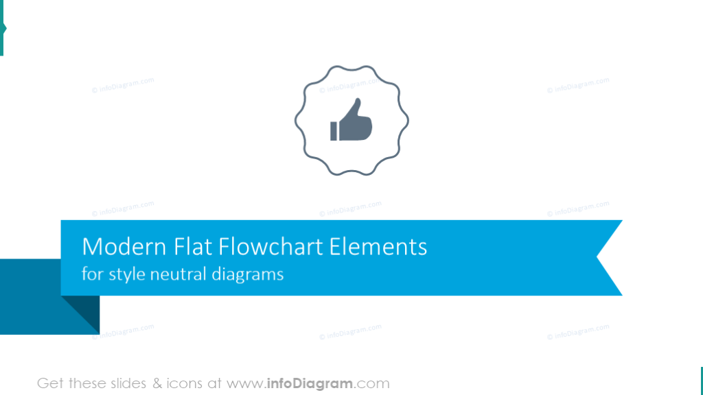 Modern Flat Flowchart Elements