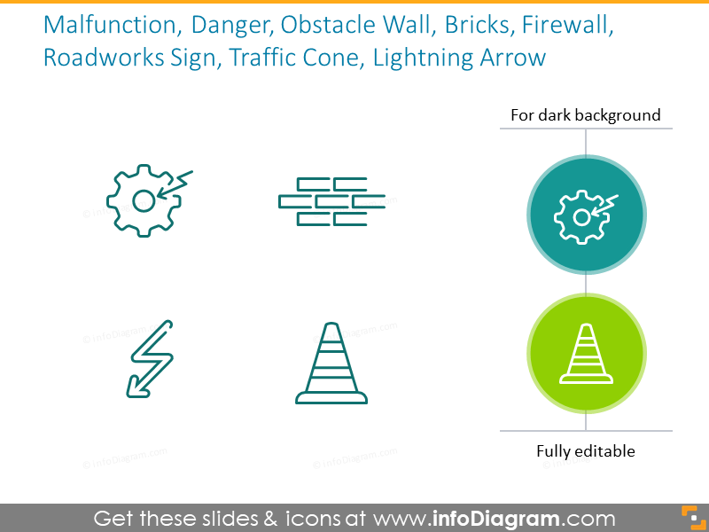 Malfunction, Danger, Obstacle Wall, Bricks, Firewall,