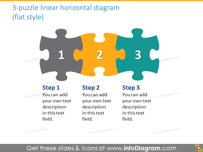 jigsaw puzzle horizontal  diagram hand scribble ppt clipart
