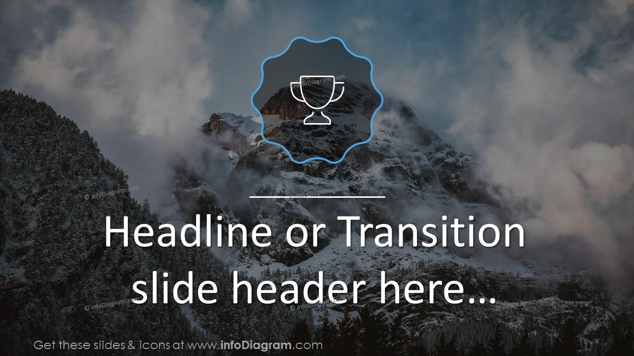Headline or transition slide