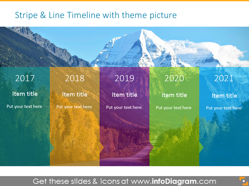 strategy timeline template with background