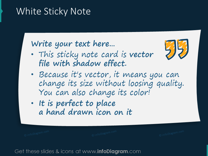 white sticky note card picture quote transparent ppt