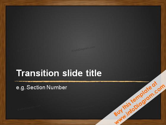 Blackboard Transition slide charcoal line PPTX Template