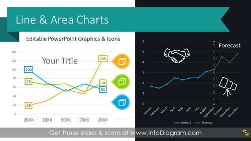 Line Chart Data-driven Graphics (PPT Template)