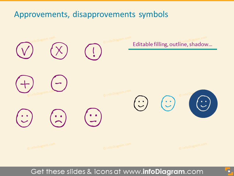 Approvements and Disapprovements Symbols