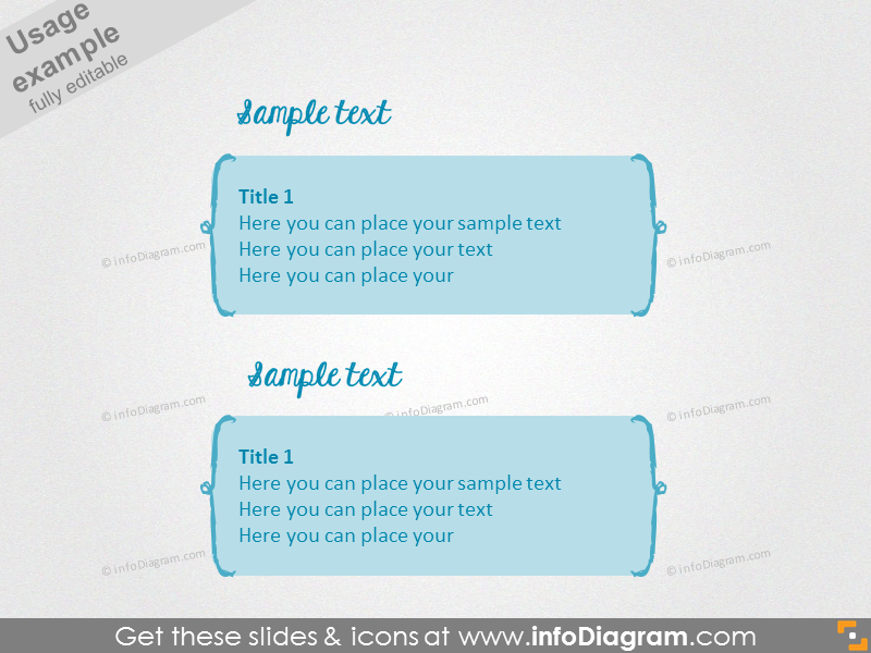 Simple text slide with brackets with filling