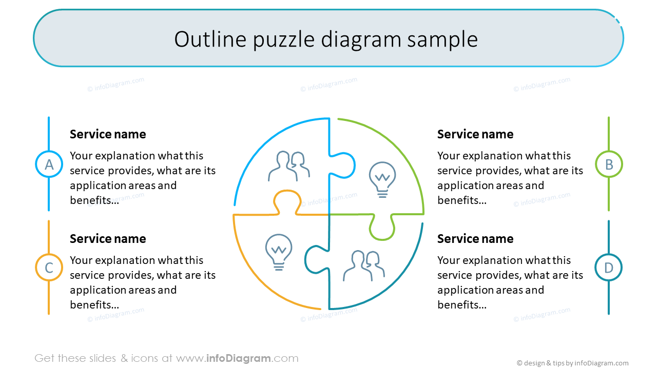 Free Sample of Diagrams and Icons (PPT Template)