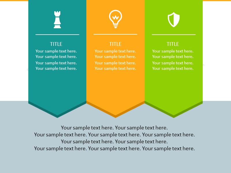 Vertical Stripe Arrows Infographics list