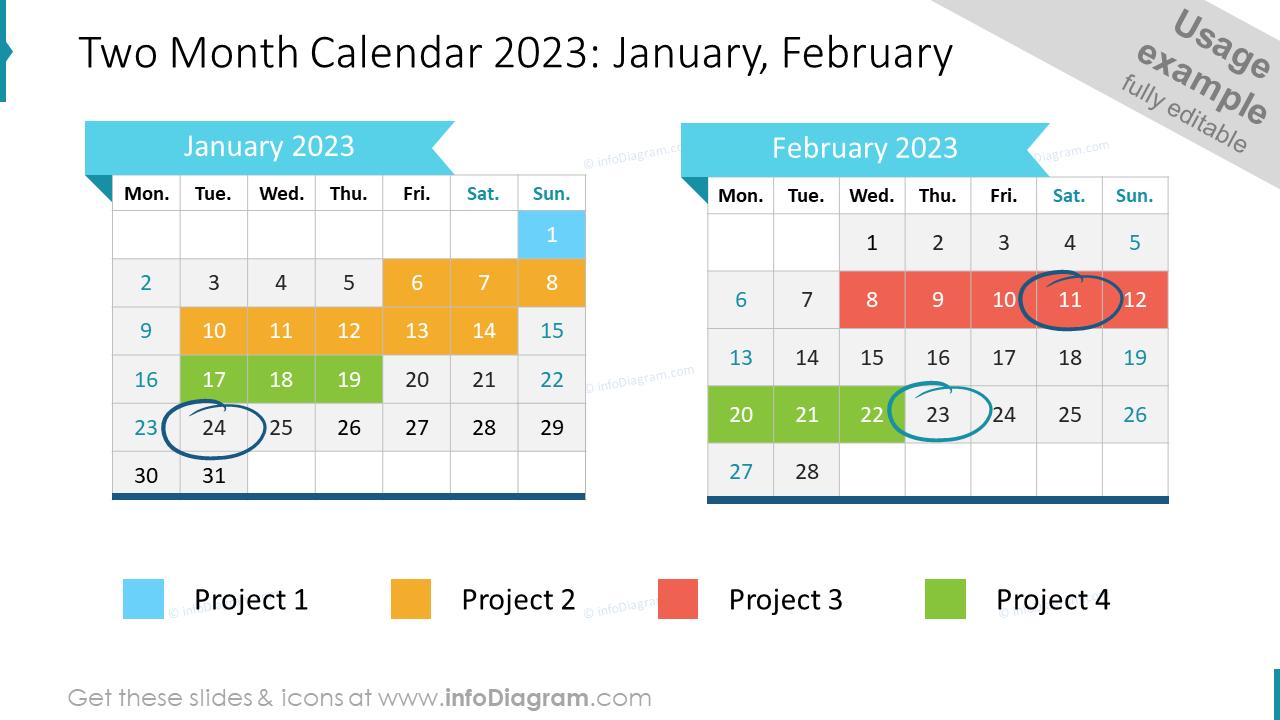 Two Month EU Calendar 2022