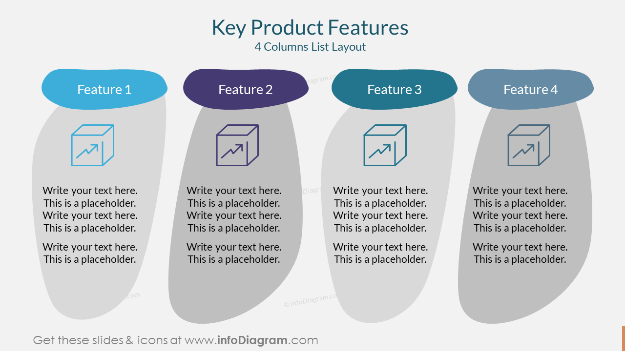 Key Product Features4 Columns List Layout