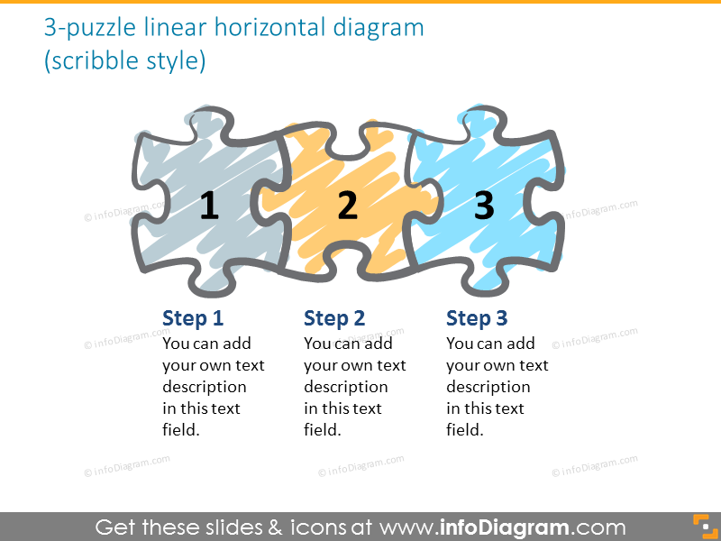 puzzle 6 year timeline diagram green blue gradient clipart