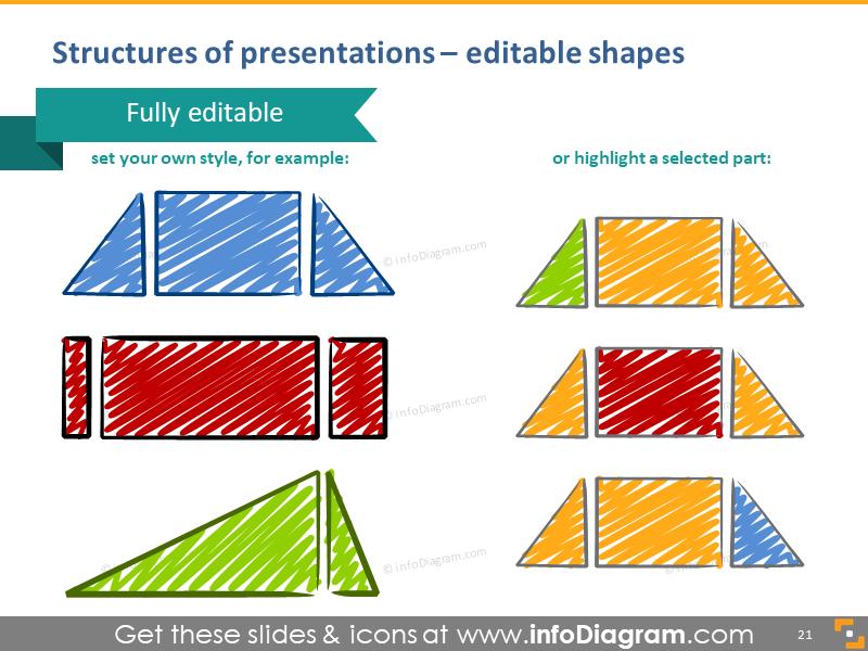 presentation structures illustration shapes editable training visualization tools