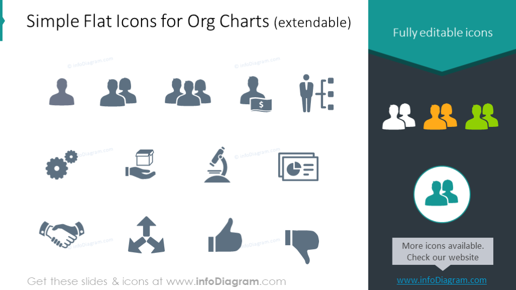 Example of the flat icons set