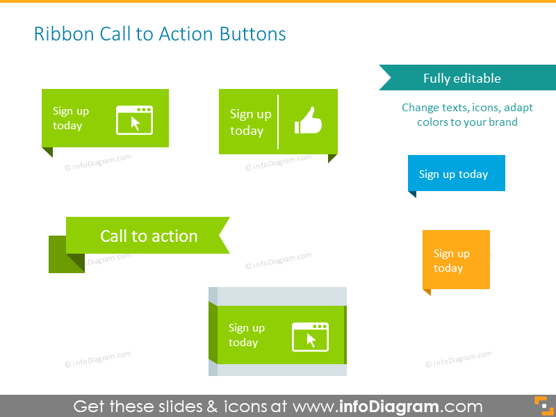 Ribbon buttons and icons list