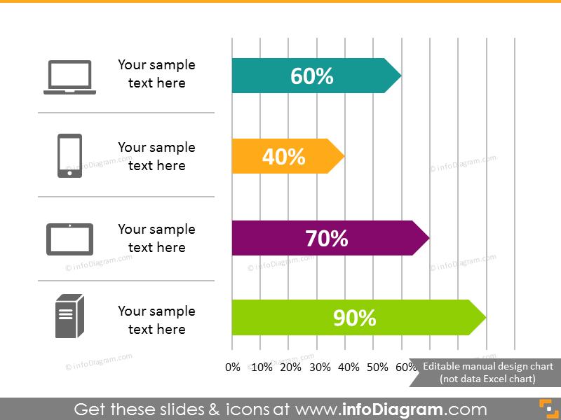 Arrow Bar Chart Infographics