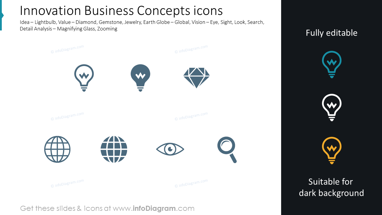 Innovation Business Concepts icons
