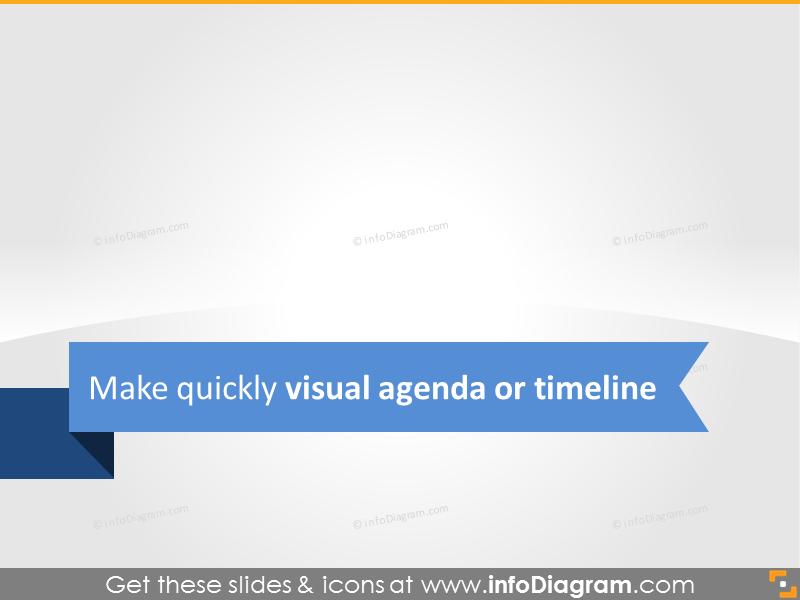 Business visual agenda or timeline