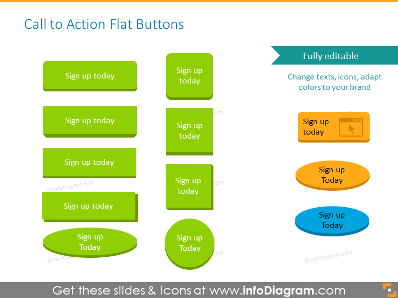 Call to action flat buttons