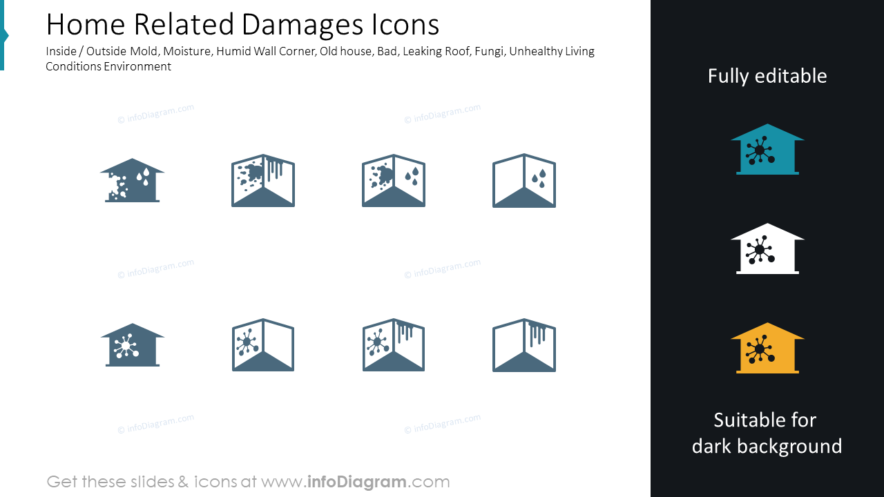 Home Related Damages Icons