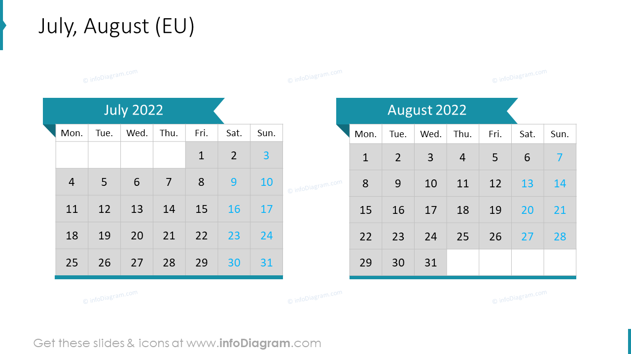 July August 2022 EU Calendar