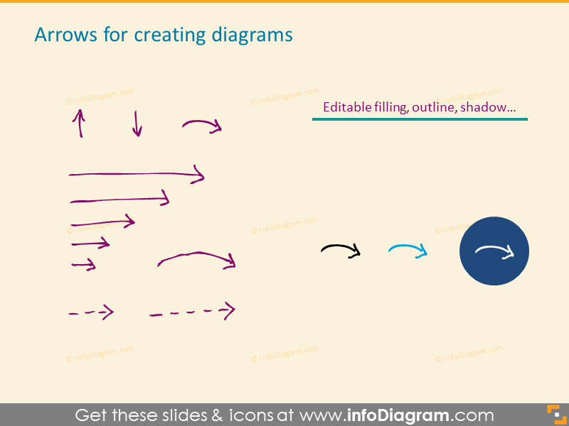 Arrows for creating diagrams
