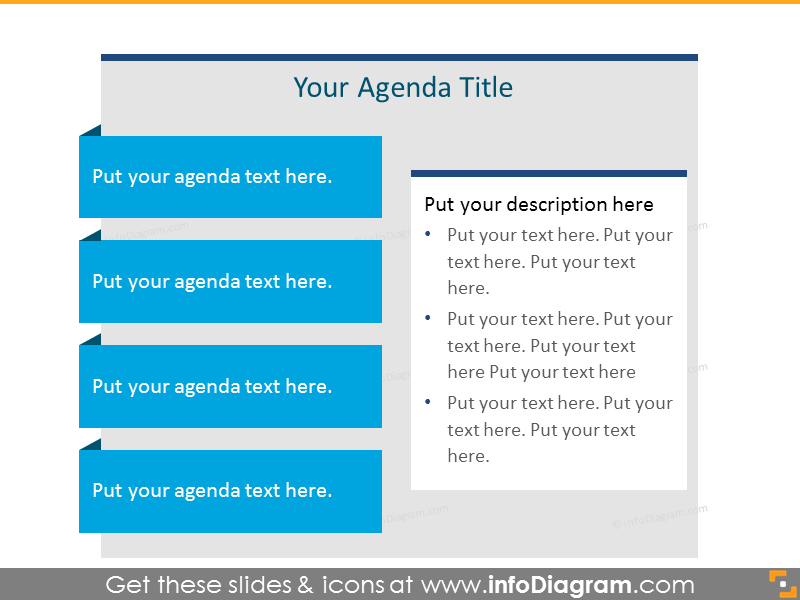 Agenda List for placing 4 items with text box