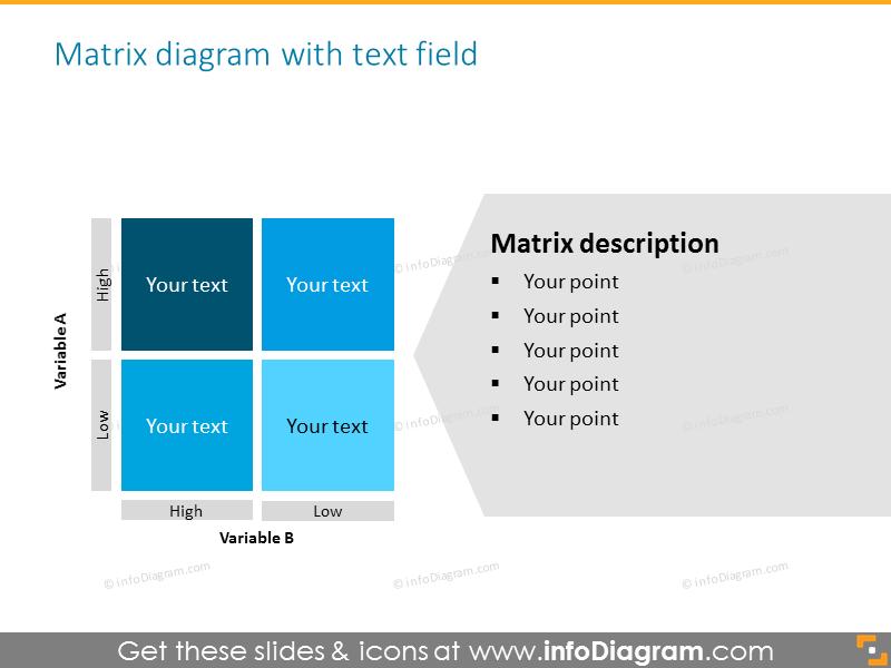Monochrome matrix with description