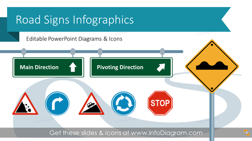 Road Signs Infographics (PPT Template)
