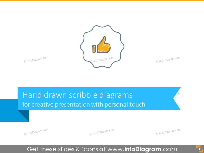 scribble timeline chevron arrows template